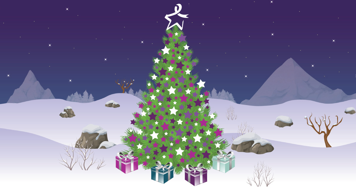virtual christmas tree for bowel cancer charity