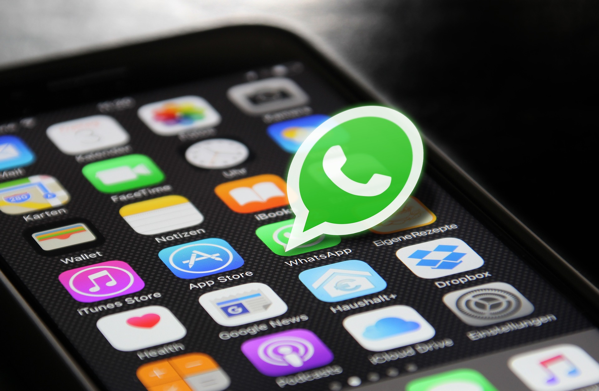 mobile phone with whatsapp installed