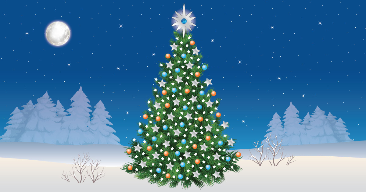 virtual christmas tree for lung cancer charity